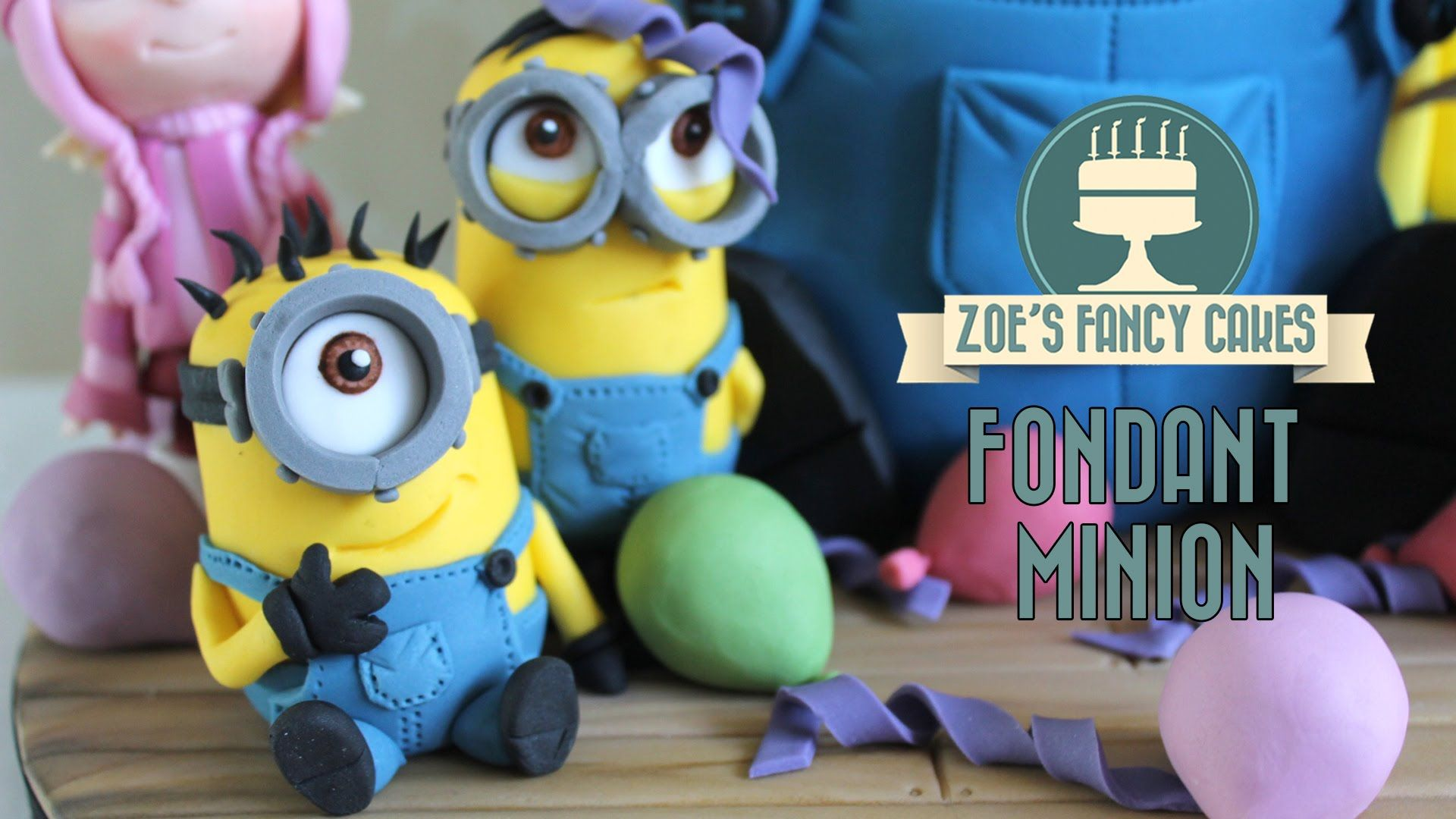 Minions How To Make A Minion Model Using Gum Paste Or