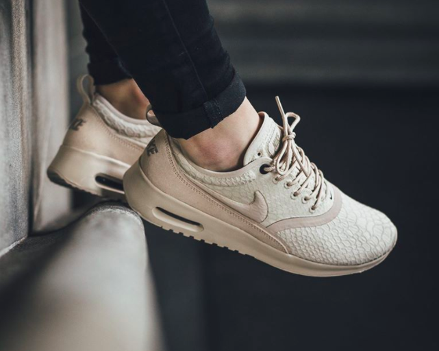 The women 39 s Nike Air Max Thea Ultra SE is rendered in oatmeal x2F khaki  for its latest colorway this new year. Find it at select Nike stores now. 127c2cc6b