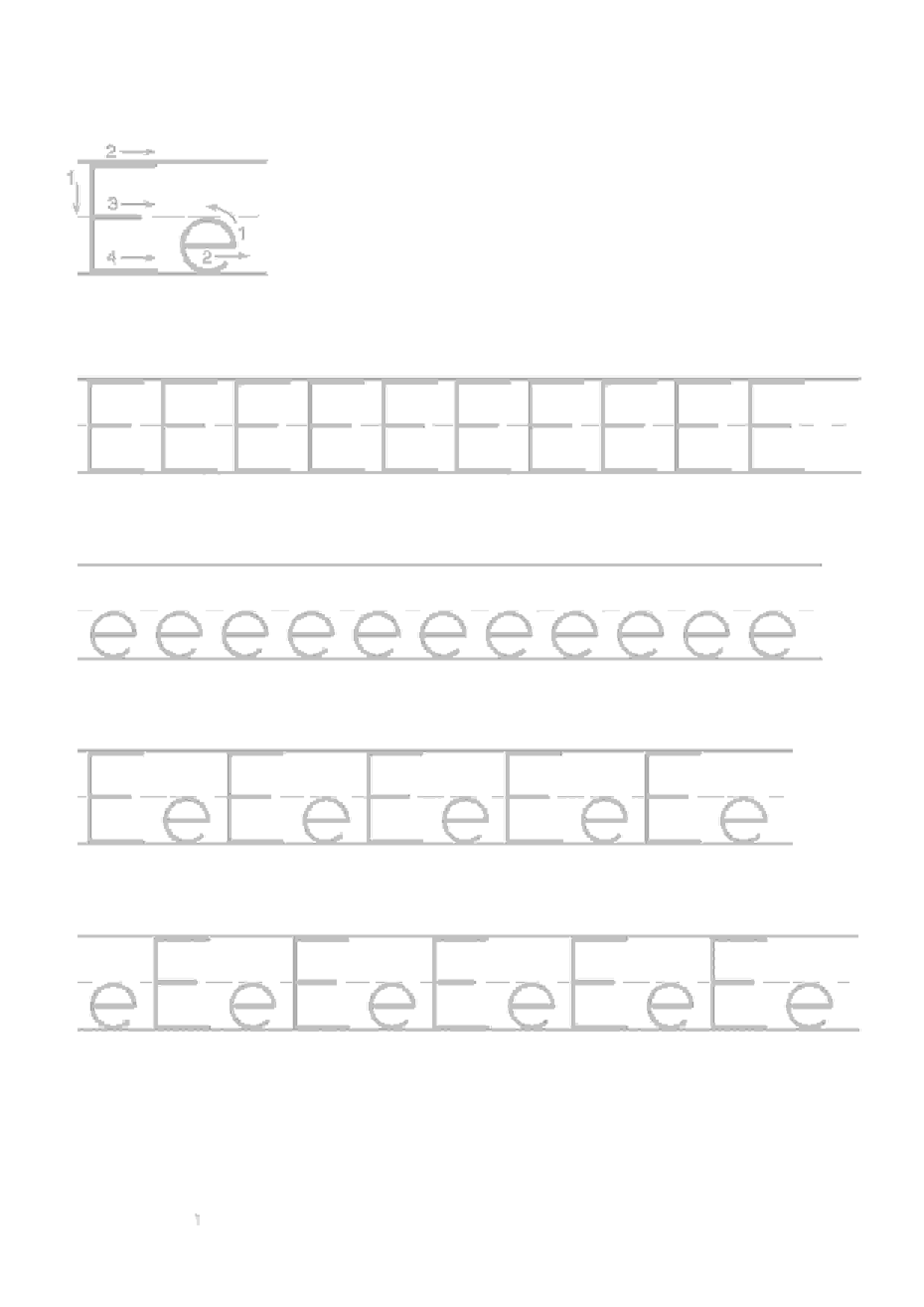Printable Worksheets For Kids Alphabet Handwriting 5