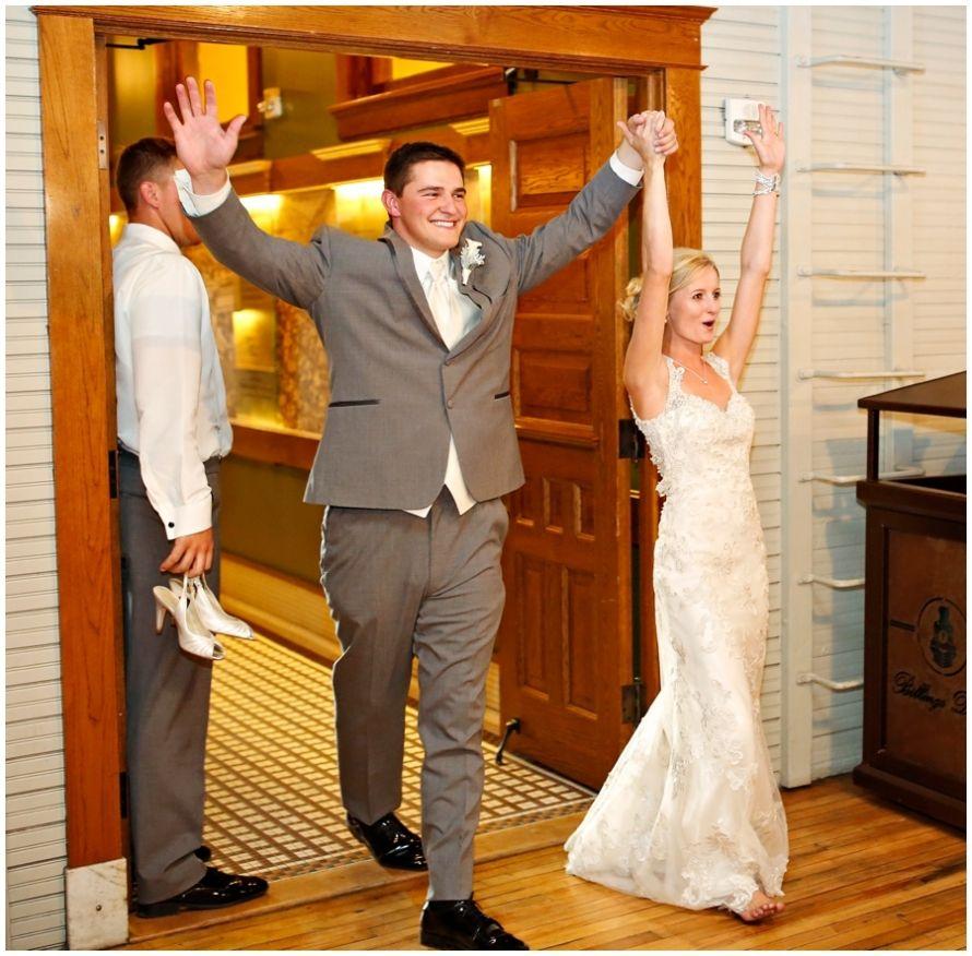 Bride and Groom Grand Entrance   Kelcie Wood and Lukas Lohof ...