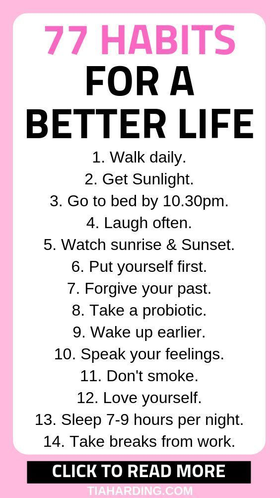 77 Habits For A Better Life - Tia Harding #lifegoals