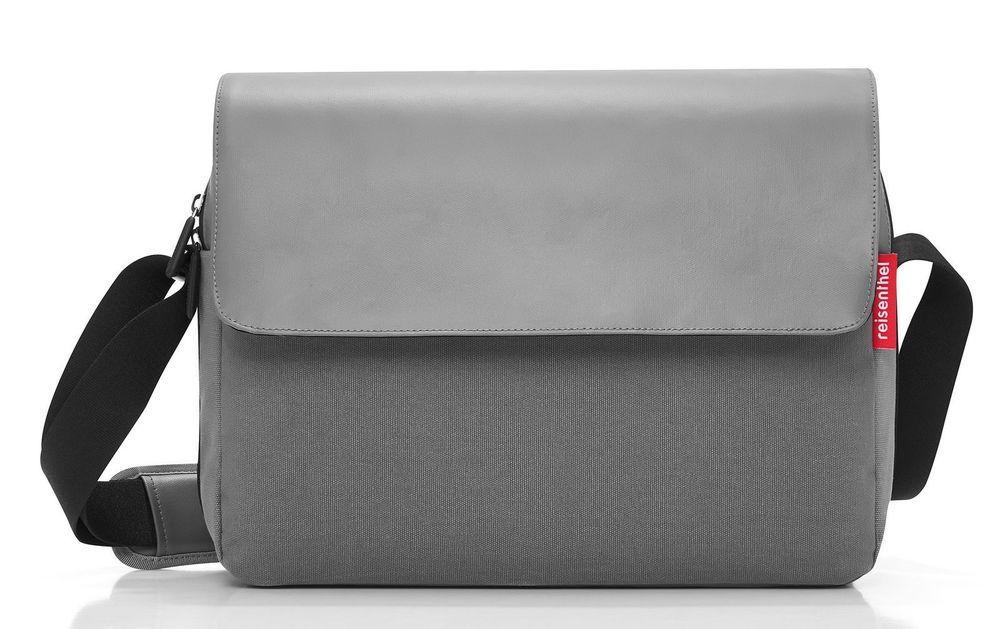 12e6842f12240 reisenthel courierbag 2 Umhängetasche Tasche canvas grey grau UU7050 ...
