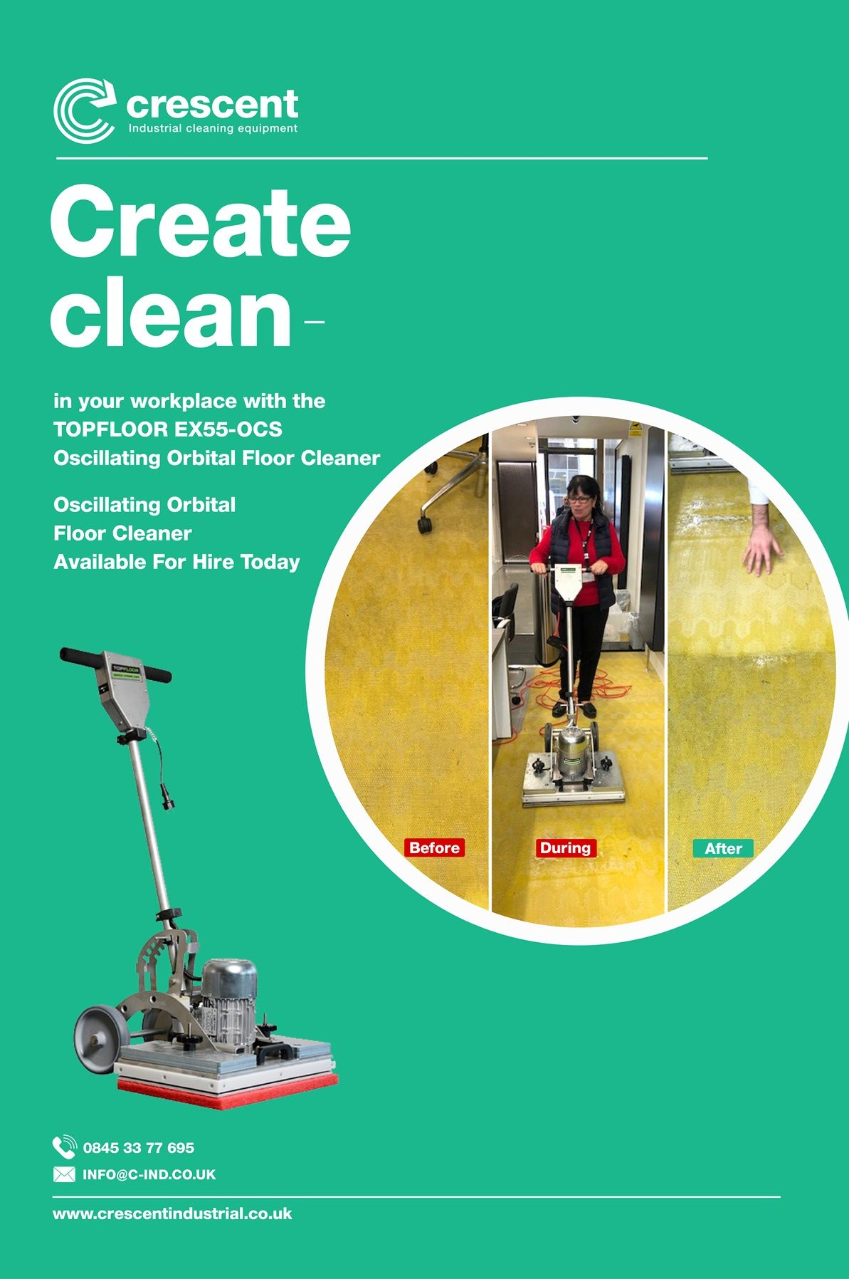 1 Industrial Floor Cleaning and Polishing Machine UK