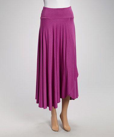 Look at this #zulilyfind! Orchid Faux Wrap Skirt by Survival #zulilyfinds