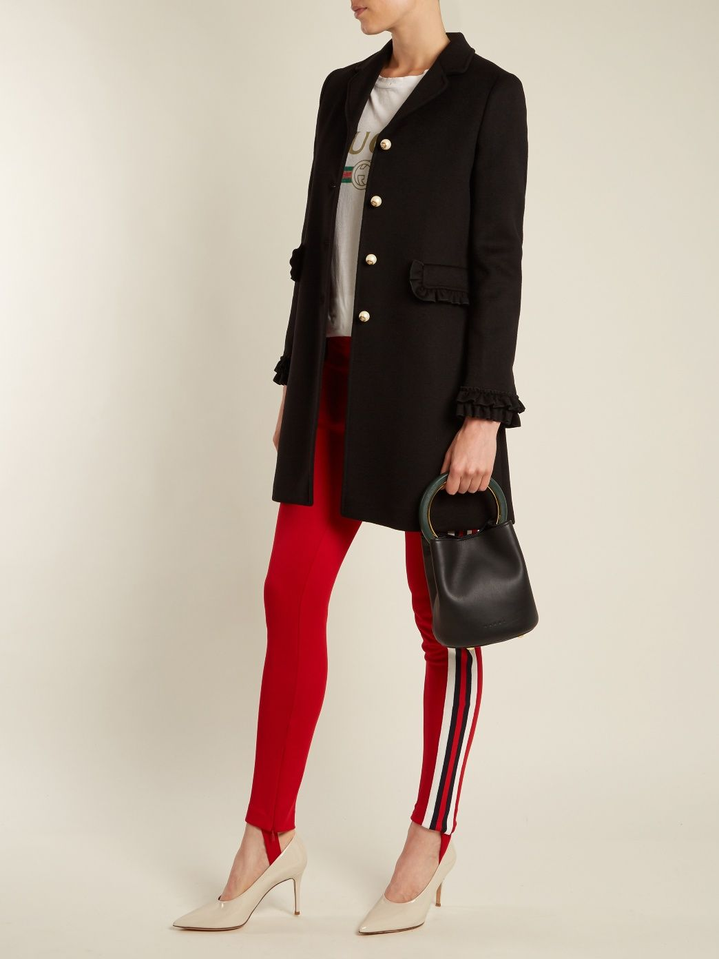 Ruffled-cuff wool coat | Gucci | MATCHESFASHION.COM US | jackets ...