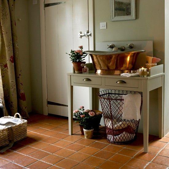 15 Terracotta Floor Tiles Ideas Aida Homes Stylish Flooring Unique Bathroom Vanity Primitive Bathrooms