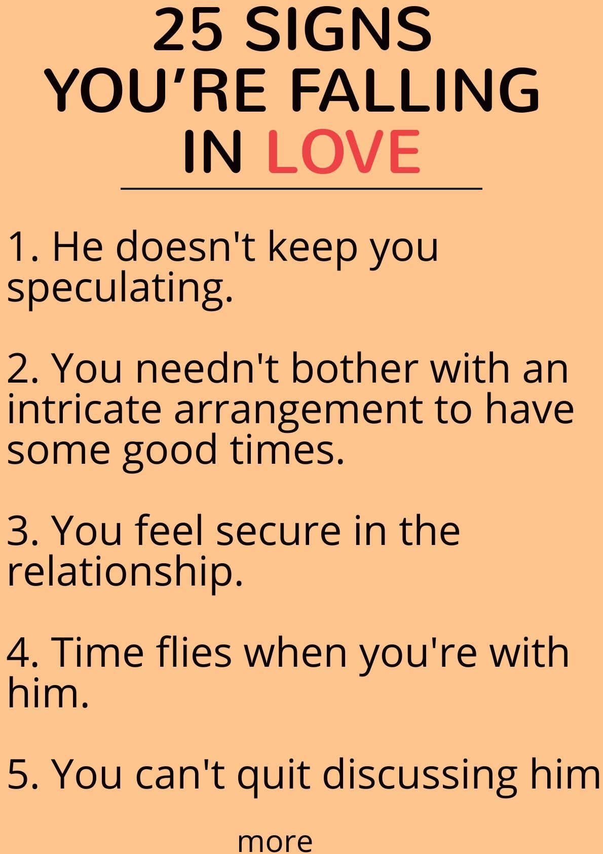 how do you know if you re falling in love