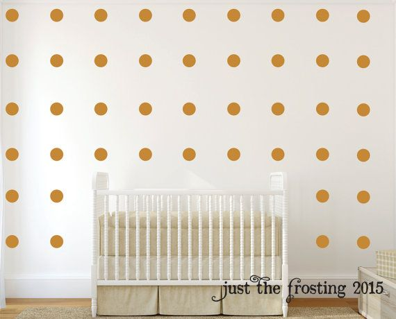 Polka Dot Wall Decals Set of 40  Gold Polka by JustTheFrosting