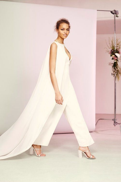 Asos Ivory Jumpsuit With Long Train Not My Wedding Pinterest