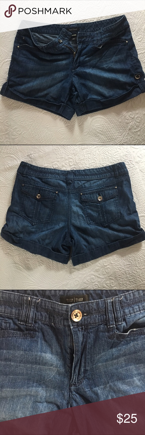 ☀️ WHBM Denim Jean Shorts Cute shorts that are great for that winter vacation to somewhere sunny and warm! White House Black Market Shorts Jean Shorts