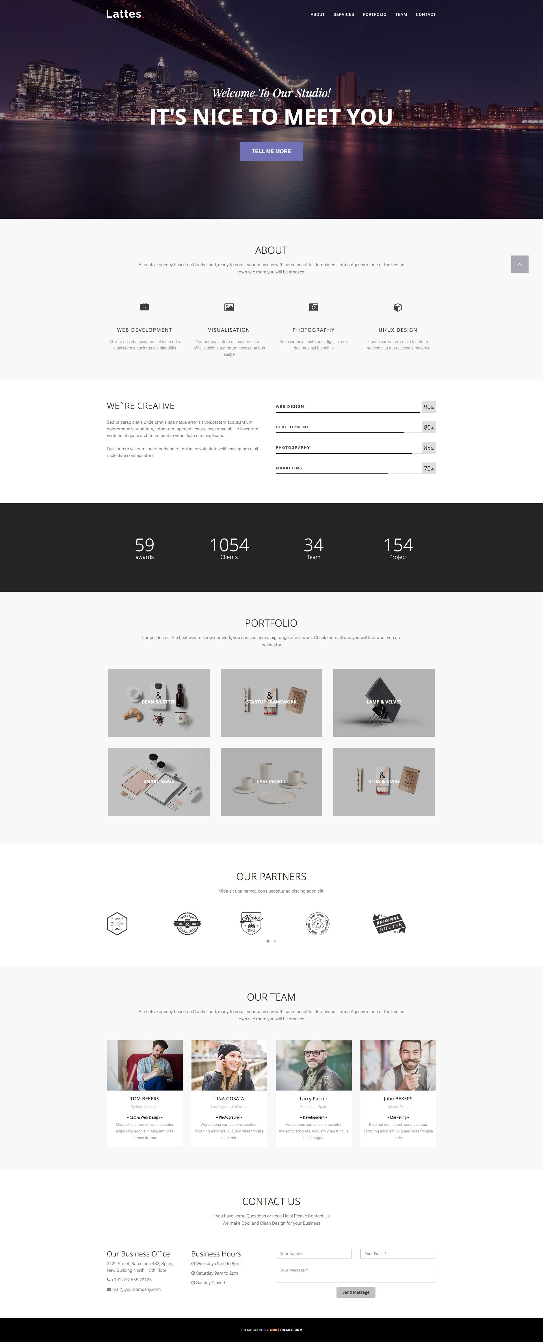 Lattes is a clean and elegant free responsive HTML5 Bootstrap ...