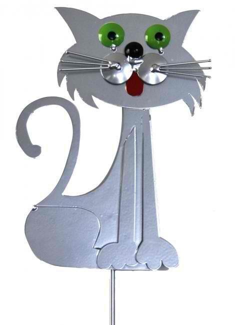 Merveilleux Cat Garden Stake