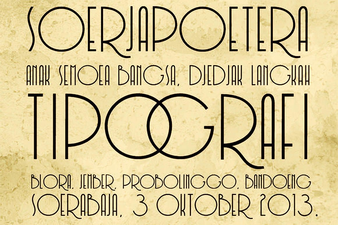 Download Soerjaputera - Free Font | Stylish fonts, Fonts, Design ...