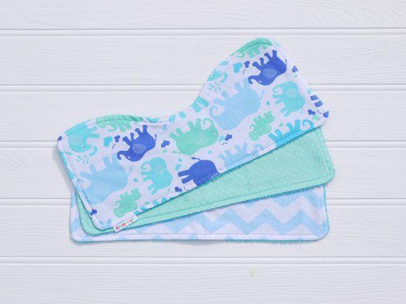Blue elephant baby burp cloths set of 3 blue toweling cotton blue elephant baby burp cloths set of 3 blue toweling cotton baby gift negle Image collections