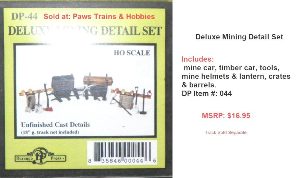 Deluxe Mining Detail Set Ho Scale 1 87th Nib Dp 44 Durangopress Ho Scale Train Layouts Scale
