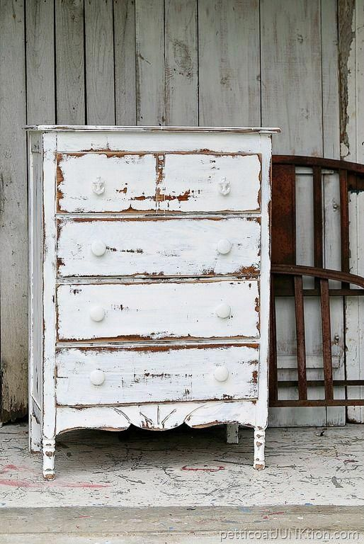Photo of Dare To Distress | Shabby Chic Coastal Furniture Project – Petticoat Junktion