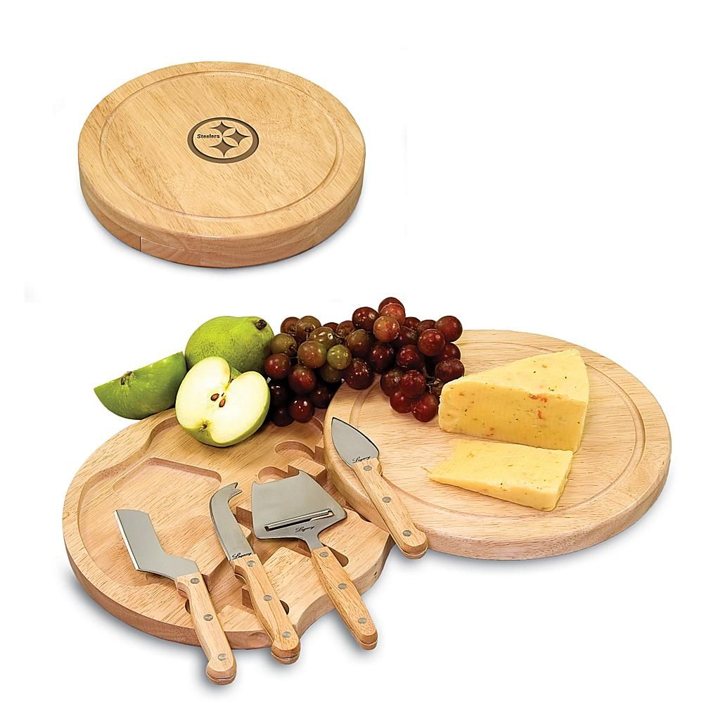 Football Fan Shop Picnic Time Circo Cheese Board - Pittsburgh Steelers 9feccf26f