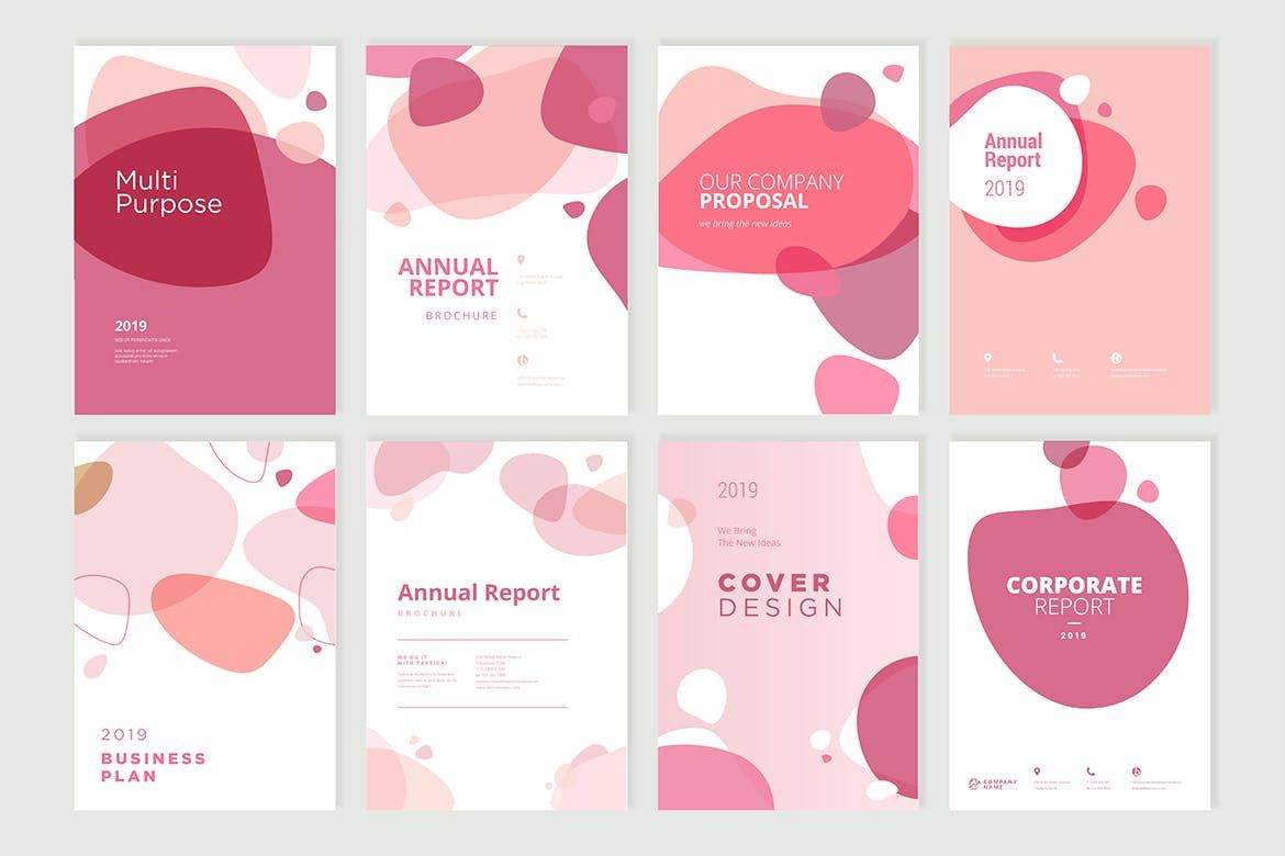 Beauty Brochure, Annual Report, Cover Designs Templates EPS