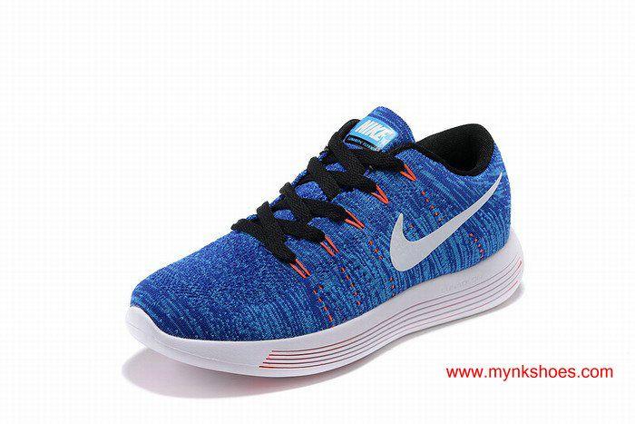 Nike LunarEpic Low Flyknit id Blue Orange White Women's