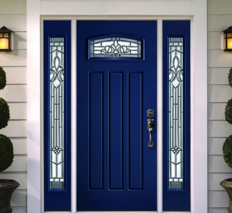 Blue Front Door Paint Colors: Modern Blue Front Door. Get The Look With Dunn-Edwards