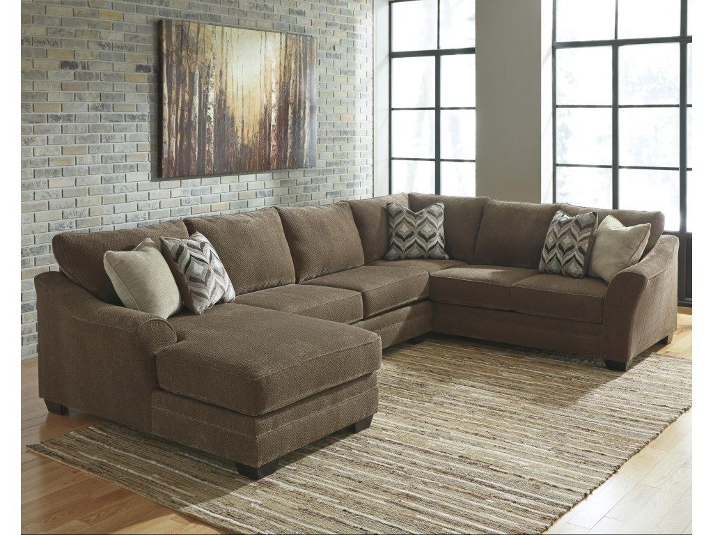 Justyna Contemporary 3 Piece Sectional With Left Chaise By Ashley