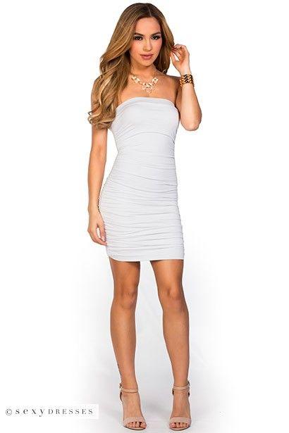 White Tube Mini Dress