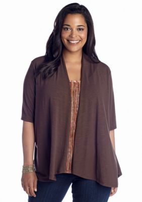 Kim Rogers  Plus Size Textured 2-For Cozy