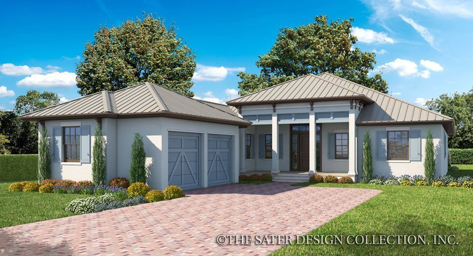 The Birchley West Indies Style Home Plan L Sater Design Collection L One Story House Plans Homeplans House Plans Contemporary House Plans Luxury House Plans