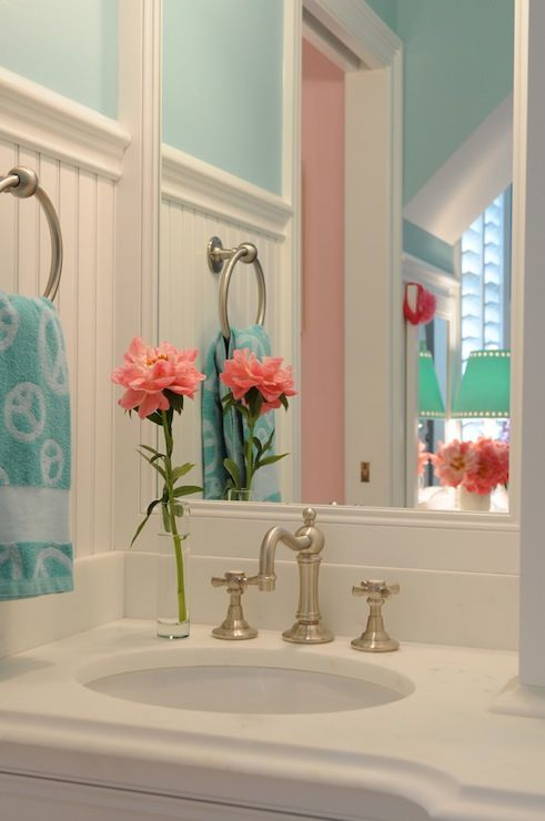 Source Tr Building Remodeling Pretty Turquoise Bathroom With