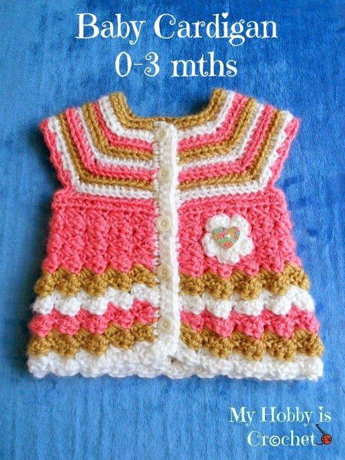 Mi hobby es Crochet: chaqueta de punto de ganchillo bebé \