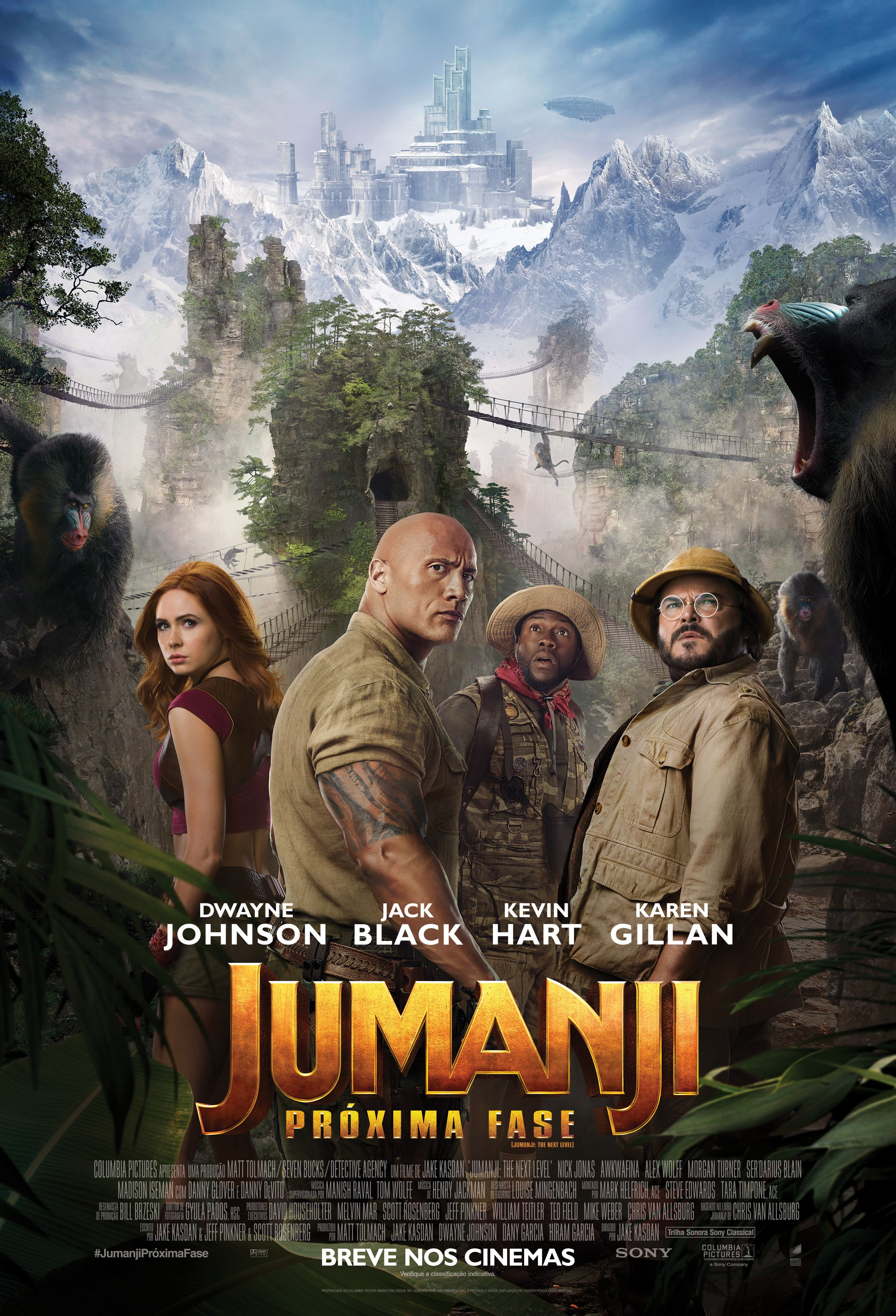 Jumanji Proxima Fase Ganha Novo Poster Com Imagens Assistir