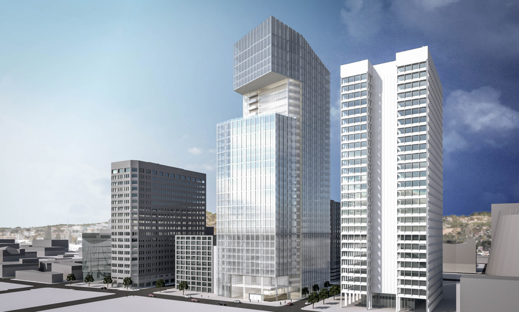 Cim Seeks Approval For Massive Oakland Office Tower 447 Apartments San Francisco Business Times Architecture Office Tower Oakland