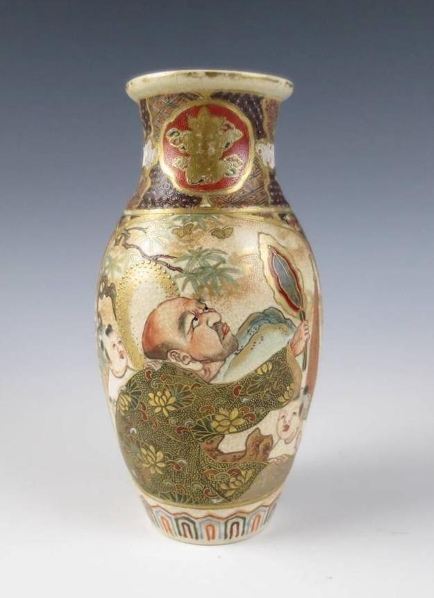 Japanese vase vintage satsuma Japanese Satsuma