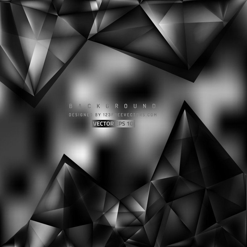 Abstract Black Triangular Background Template Background