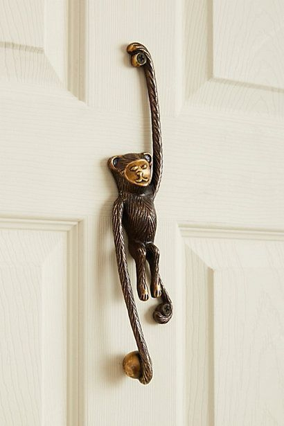 Monkey door knocker from Anthropologie. Home decor is in the details. Funny and cute door knocker ideas to add funny twists to home decor. Home dec\u2026 & Monkey door knocker from Anthropologie. Home decor is in the details ...