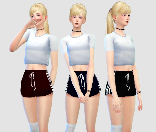 "rinvalee: ""Sports Shorts• 4 colors • mesh edited by me • Do not reupload or claim as your own. • Feel free too tag me @rinvalee or #rinvalee if you using my cc • If something wrong do not be afraid to..."