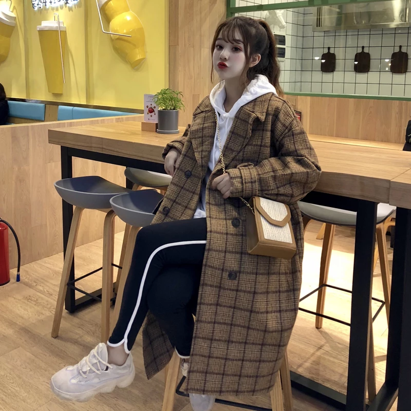 Photo of Loose Check Wool Coat