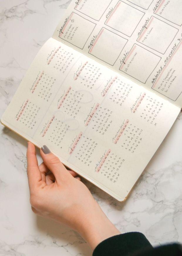 A year at a glance  Jahresübersicht Bullet Journal 2018  A year at a glance  Jahresübersicht Bullet Journal 2018