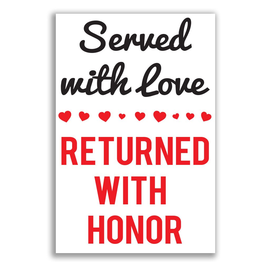 This Lds Missionary Welcome Home Poster Features The Words Served