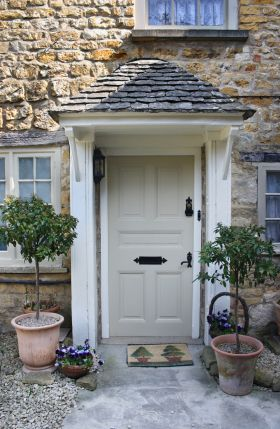 Try Farrow and Ball Bone for this putty-coloured front door.  51797d900a2