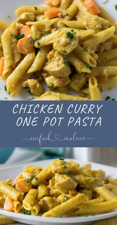 Einfach & genial - cremige Chicken Curry One Pot Pasta