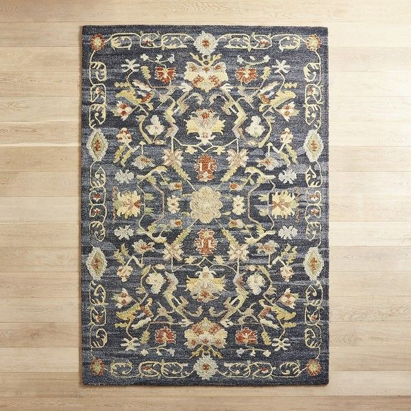 Pier 1 Imports Shiva Ink Traditional 6x9 Rug 600 Liked On Polyvore Featuring Home Rugs Navy Area