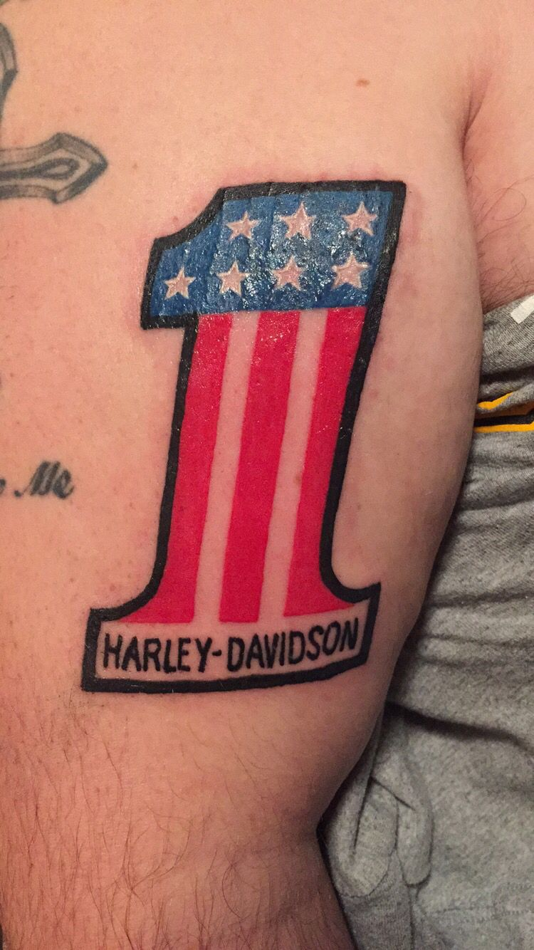 7e9a40309 Harley Davidson tattoo. Old school #1 | Harley's, Tattoos, and more ...