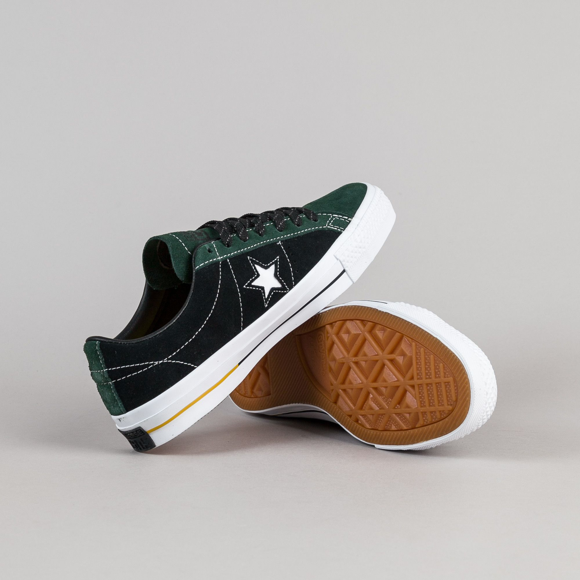 4bd5e77d8de1 Converse One Star Pro Suede OX Shoes - Deep Emerald   Black .