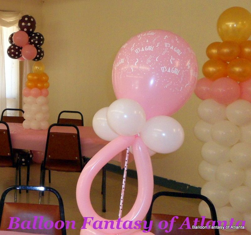 Pacifier centerpiece baby bottle balloon sculptures