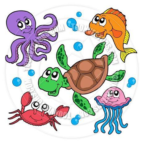 Cartoon Marine Animals Collection