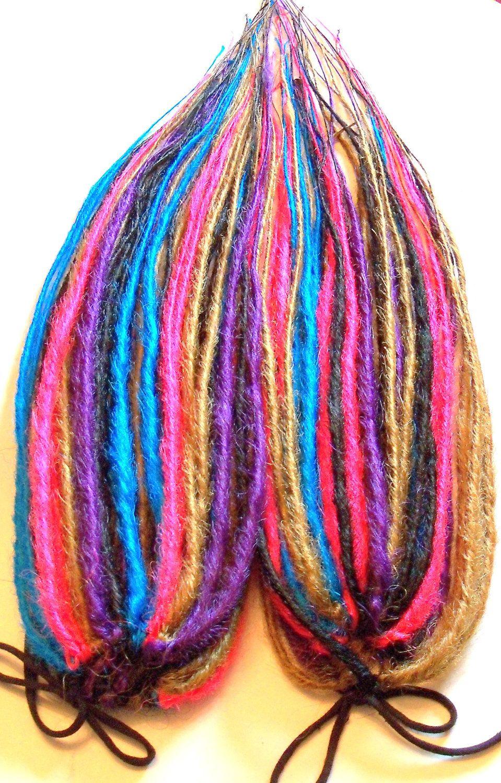 2 Synthetic Dread Falls Hair Extensions Dreadlock by damnationhair, $100.00