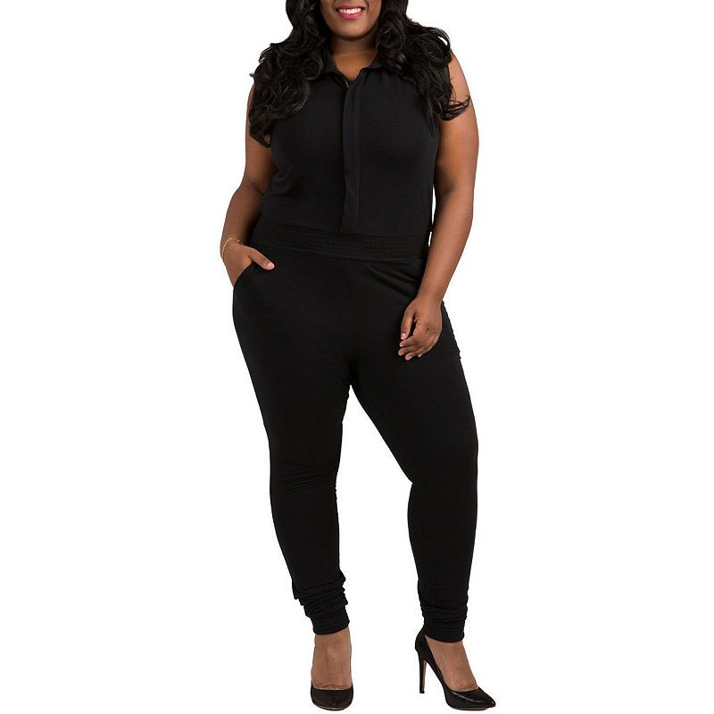 e72591b96d Poetic Justice Curvy French Terry Jumpsuit - Plus | Products