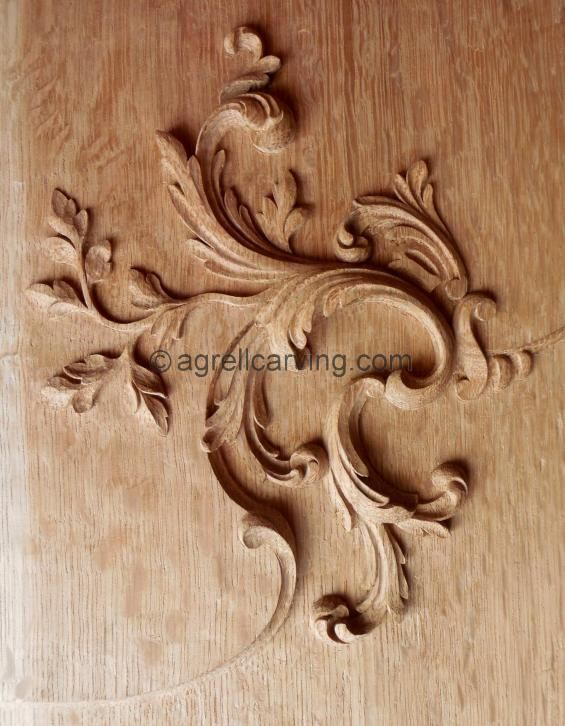 French louis th panel hand carved oak agrell