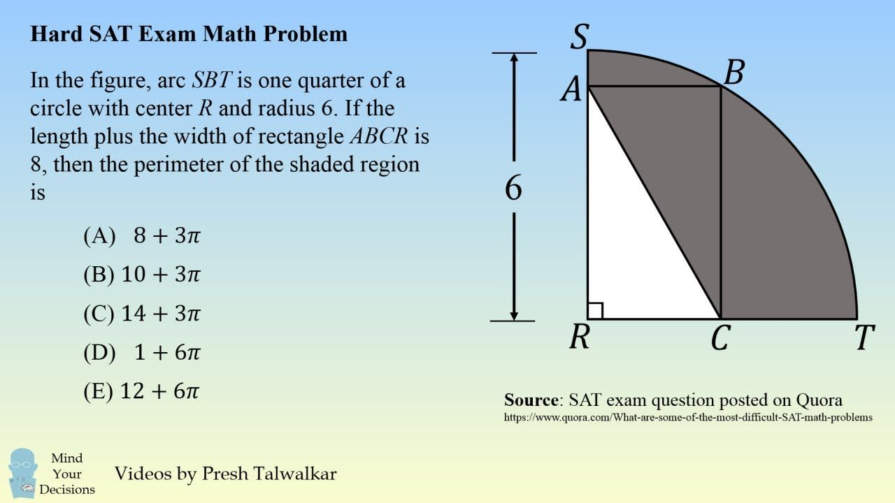 One Of The Hardest Sat Math Problems Sat Math Math Addition Worksheets Math Problems